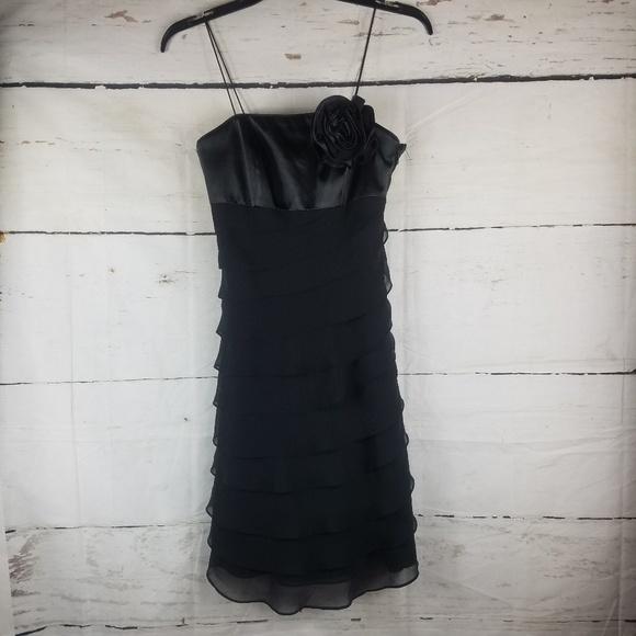 0f07ffcdf1d3c WHBM Layered Black Dress Size 00 Spagetti Strap. NWT. white house black  market